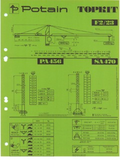 Tower Cranes Potain Topkit F2 23 Specifications Cranemarket