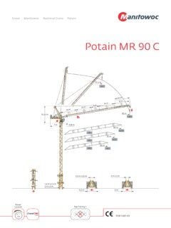 Tower Cranes Potain Mr 90 C Specifications Cranemarket