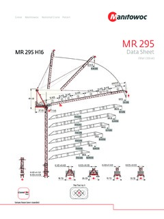 cranes material handlers specifications cranemarket page 352 potain mr 295 h16