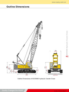 Sany SCC500E Specifications CraneMarket