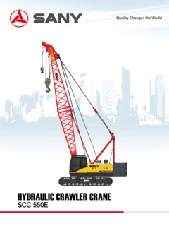 Crawler Cranes Lattice Boom Sany SCC550E Specifications CraneMarket