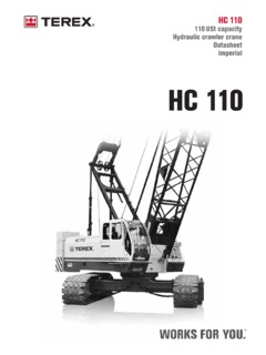 Terex HC 110 Specifications CraneMarket
