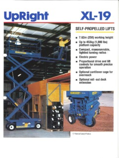 UpRight XL-19C Specifications CraneMarket on lift switch diagram, lift accessories, lift parts diagram, lift pump diagram, lift motor diagram,