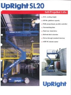 Upright Sl20 Scissor Lift Manual - Description Of The Lift on