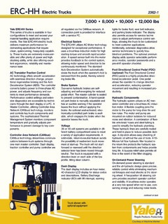 Yale Specifications CraneMarket